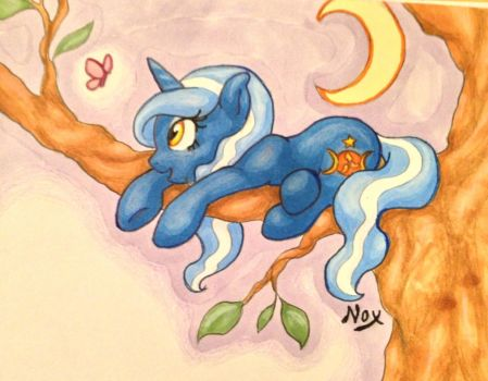 Moon bathing by NocturneGlow