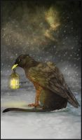 Gryphon Tarot - The Hermit by Bailiwick
