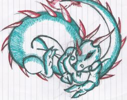 Dragon doodle by SunFireDemon