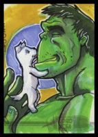 Hulk Sketchcard by lordmesa