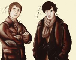 Holmes and Watson by SunshineRachael