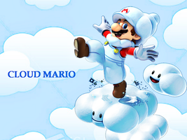 Cloud Mario Wallpaper by Skylight1989