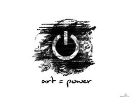 Art Equals Power Wallpaper by Tal1n