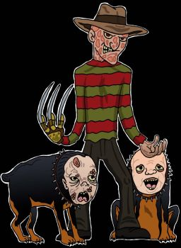 Freddy and his Guard Dogs by Lordwormm