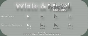White and Metal Cursors by spanish-deviants