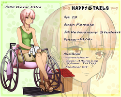 Happy Tails: Demi Ellis [Human] by tree-pee