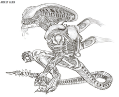 The Jockey Xenomorph by TITANOSAUR