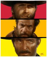The Good The Bad The Ugly by gerky-art