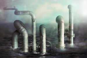Water steam pipes by cylonka