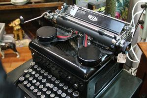 Old Typewriter by KelbelleStock