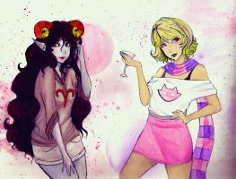 Roxy and Aradia by StrawberrySunflowers