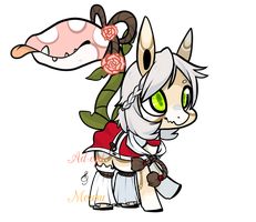 Chibi Plant Pony Auction collab - clsoed by Mousu