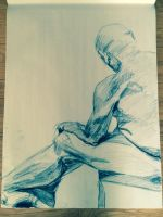 Nude Figure Drawing by Redochre92