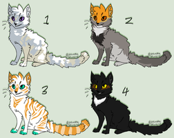 Cat designs 2 (TAKEN) by JocastaTheWeird