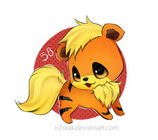 Growlithe by i-Zorak