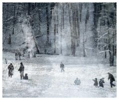Winter in the childhood by Gutalin