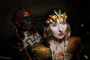 Ganondorf and Dark Zelda by BOiKEM