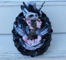 Ophelia Nevermore framed Myxie Sculpture by MysticReflections