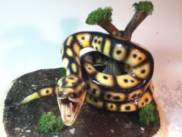 Snake painted completed and mounted 4 by rvbass