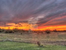 Backyard Sunset, HDR by Lectrichead