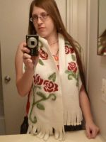 Red Roses Scarf by FlyingFrogCreations