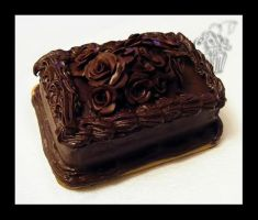 Modeling Chocolate Roses Cake by CakeUpStudio
