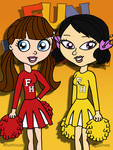 Blythe and Youngmee Fun House Cheerleaders by DJgames