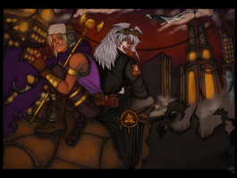 Our personal Battle City . Marik and Bakura by ManaSaya