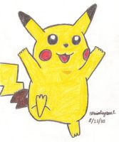 Pikachu Drawing by MarioSimpson1