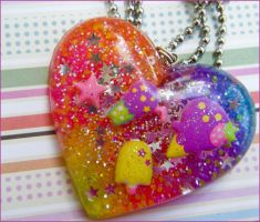 Rainbow Sweet Treat Necklace by elephont