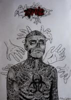 Rick Genest Zombie boy by Thessa-drawings