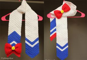 Sailor Moon Scarf (Pattern Available) by xMangoRose