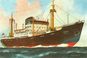 Russian freighter Lena 1952-after 1983 by roodbaard1958