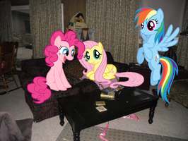 My Living Room with 3 Ponies by Eli-J-Brony