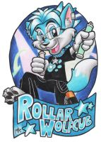 Rollar Con Badge by SketchDalmatian