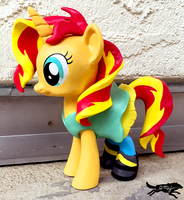 Commission-MLP Figure, Sunset with Outfit by LostInTheTrees