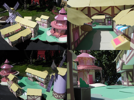 Paper Ponyville-Finished by Dazed-and-Wandering