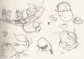 Work Sketches - 082013 by Atrox-C