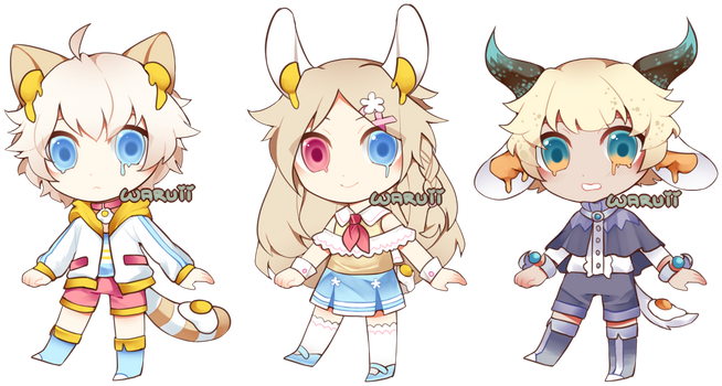 (open, #2 left!) collab tamagoko adopt 16 by waruuii