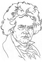 Beethoven by ckirkillustr8