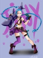 LoL: Jinx by Thanysa