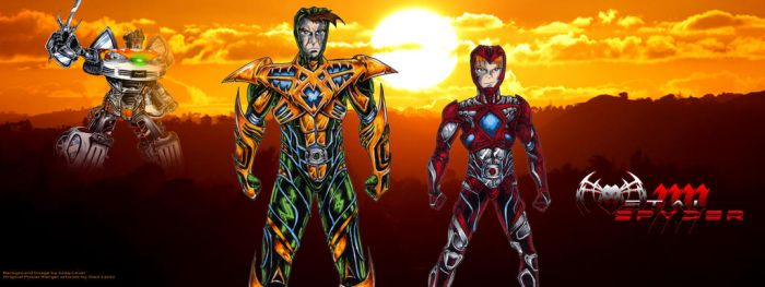 Reboot Green and Red Rangers by lentzgle