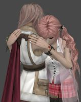 Lightning and Serah Part 1 by frameofreality