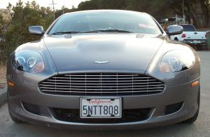 Aston Martin Silver Front Gril by IstockU