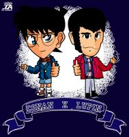 Detective Conan x Lupin the 3rd by shunichi112394