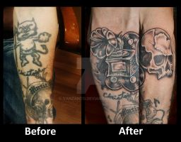 Tattoo Cover up by VanZanto