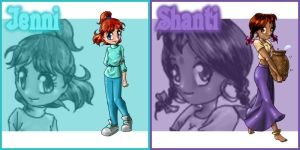Jenni and Shanti by Street-Angel