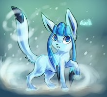 .: Chibi Shiny Glaceon :. by Aluri