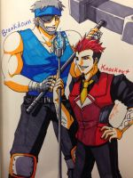 TFP: Breakdown and Knockout - Human Form by OokamiWarrior1234