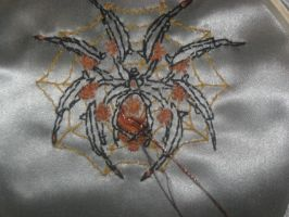 Spider work on Stempunk Gown by WillowForrestall
